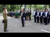 Смотр строя и песни во время военно-патриотической игры