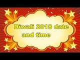 diwali 2018 date and time in india
