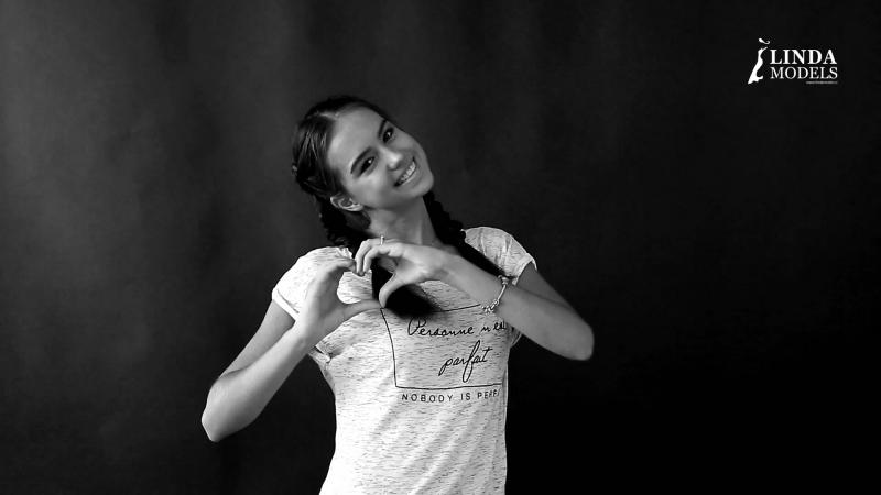 Юная модель агентства Linda очаровательная Ирина. Backstage со съемок.