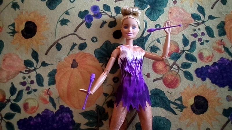Обзор на Барби Безграничные Движения Спортсменка Гимнастка*Barbie*Mede to Move