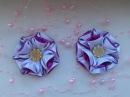 Цветочки из атласной ленты 2 5 см Канзаши Мастер класс KANZASHI master class