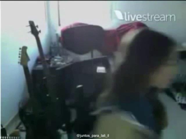 Momento Benjali Lali Esposito Y Benja Amadeo en el Twitcam en 2012