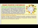 Органическая химия. Тема 28. Витамины. Часть 1. Общее понятие о витаминах