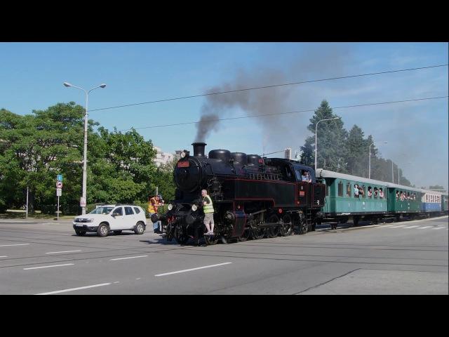 Parní vlak v ulicích Brna ( další záběry) 24.6.2017