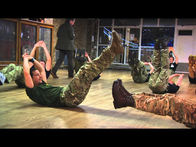 Bear Grylls Training with Naval Reservists