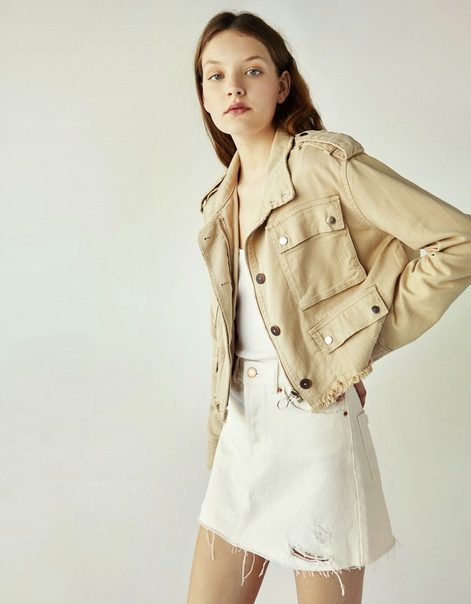 Куртка сафари в стиле рустик