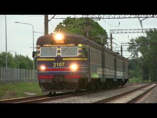 Электропоезда ЭР2-1293 и 1294 на о.п. Китсекюла / ER2-1293 & 1294 EMU's at Kitseküla