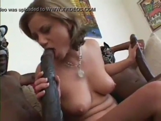 Horny sexy white lady handles 2 biggest cocks ever filmed