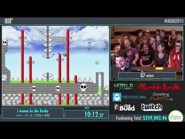 AGDQ 2015 - I Wanna Be The Boshy 100 Speedrun in 10222 by witwix