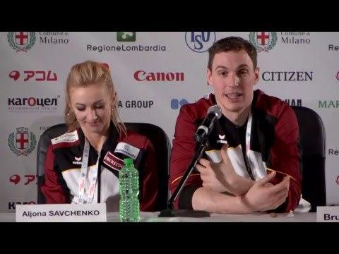 Pairs Free Skating Press Conference - ISU Worlds Milan 2018