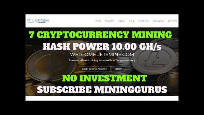 Cloud Hash Power 10.00 GH/s Mining For Bitcoin, Dogecoin, USD, Litecoin, Ethereum, Zcash, BitBean
