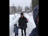 Рамос на прогулке с семьёй