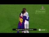 Игроки Барселоны и Реала после матча