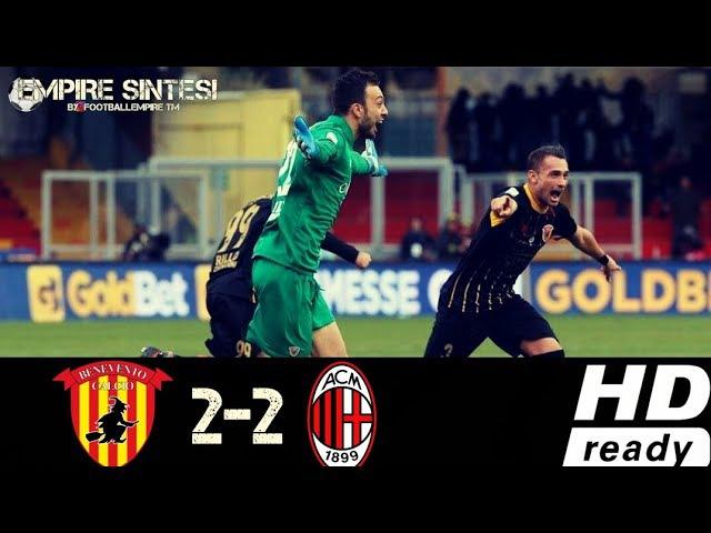Benevento vs Milan 2 2 All Goals Highlightd HD Ampia Sintesi ITA 03 12 17