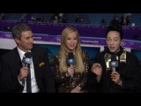 Евгения Медведева Алина ЗАГИТОВА American Commentator talk & Plus @ Winter olympic 2018