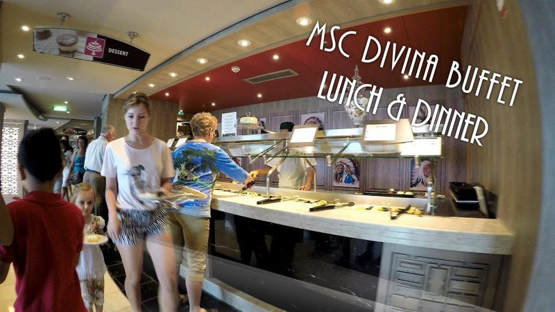 MSC Divina Buffet Food Питание