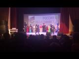 Выступление казачьего коллектива СОШ №2 г.Углегорска