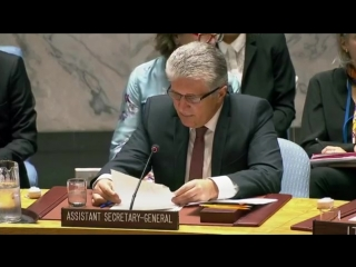 Briefing 1 on the Situation in the Middle East, Assistant Secretary-General Miroslav Jenča