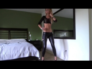 BLONDE BABE ALYSSS FROM MFC TEASES YOU IN SPANDEX PANTS