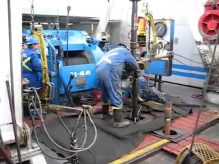 Canadian drilling rig - the worst connection ever. канадская буровая установка-худшее наращивание  когда-либо.