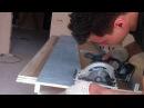 Рабочий процесс Сборка потолка фрезеровка гипсокартона