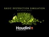 Houdini 16 Basic destruction simulation with water impact (Live tutorial)