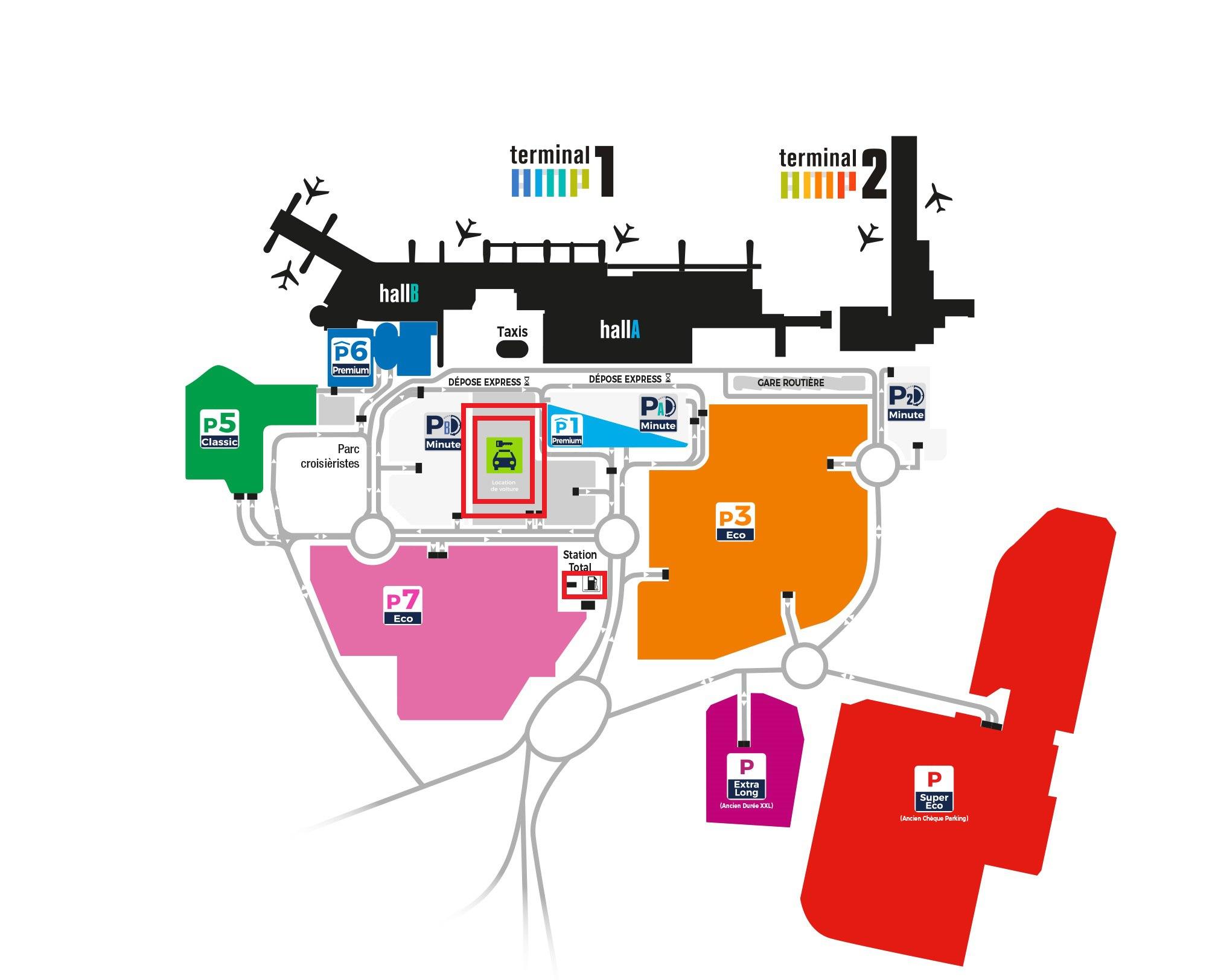 Схема аэропорта Марселя