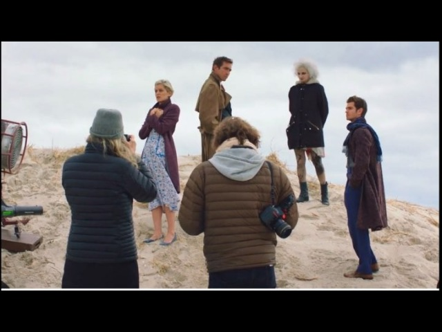 Behind the scenes of a photos of Angels in America for VOGUE.