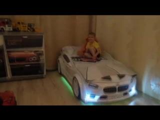 Обзор_детской_объемной_кровати_машины_BMW