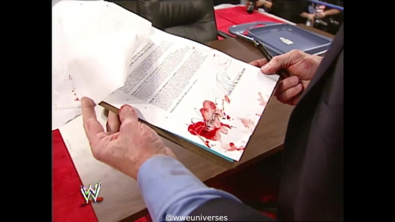 WWE.SmackDown.2003.03.20 WrestlwMania 19 Contract signing between Vince McMahon Hulk Hogan