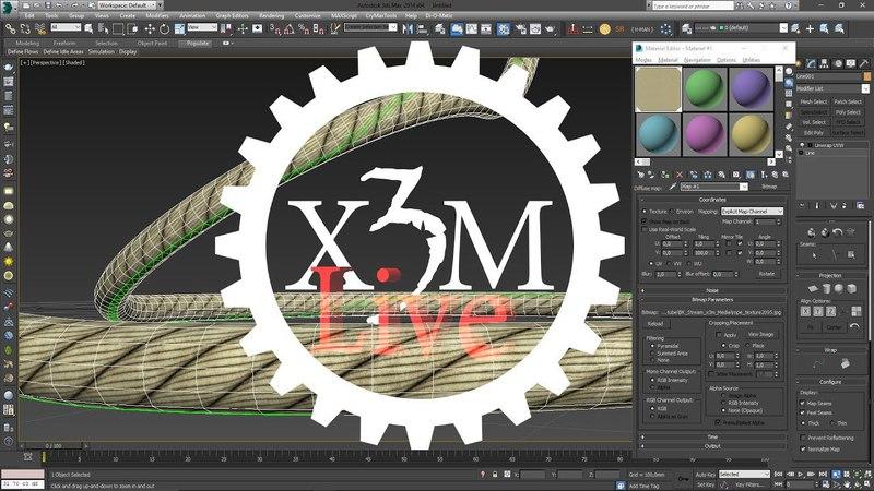 3Ds Max - как создать веревку или текстуру вокруг неё Spline текстурирование
