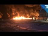 Нефтепровод загорелся в Саратовской области