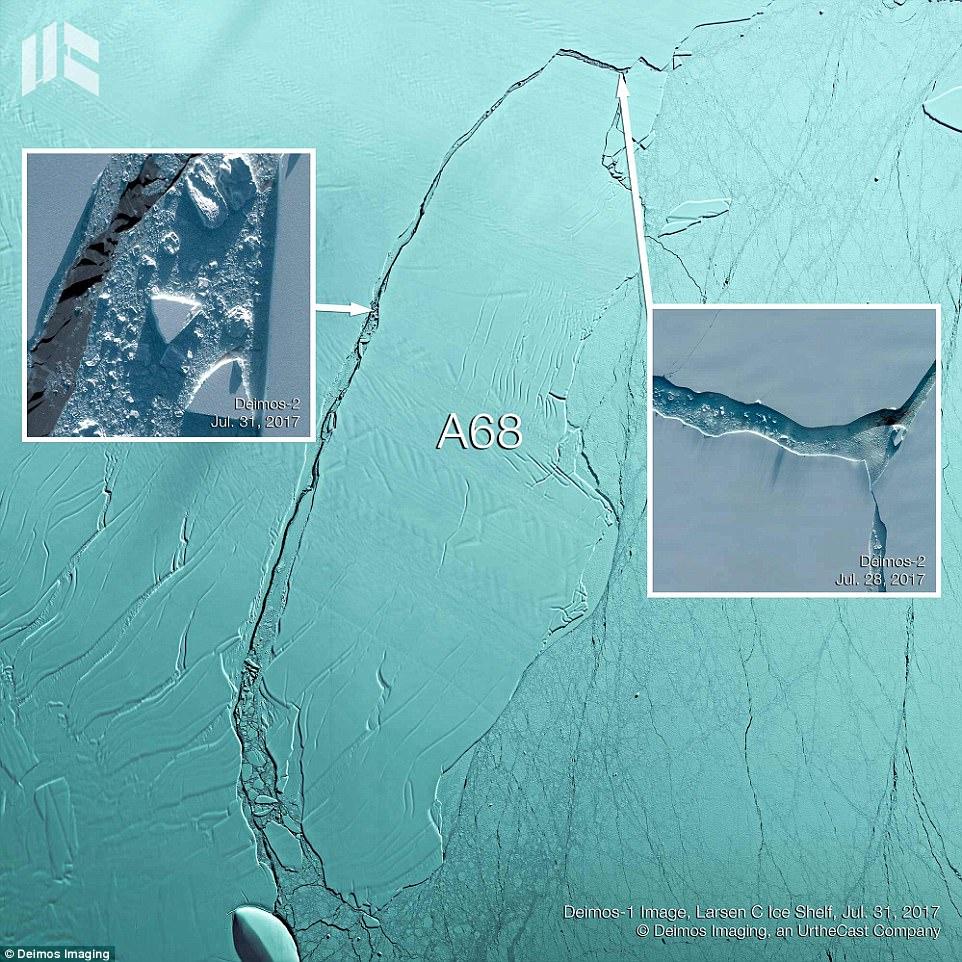 Раскол ледника в Антарктиде