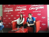 Екатерина Боброва и Дмитрий Соловьев в гостях у Советского спорта