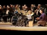 3 летний барабанщик - Выступление с концертным духовым оркестром