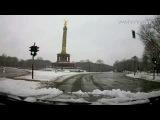 Winter Driving in Berlin. Авто прогулка по зимнему Берлину.