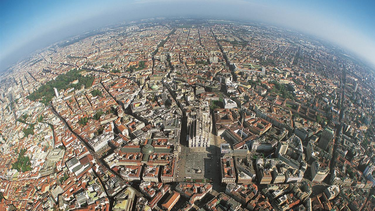 Милан с высоты