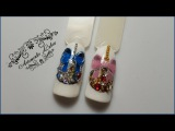 Новогодние шары. Зимний новогодний дизайн ногтей