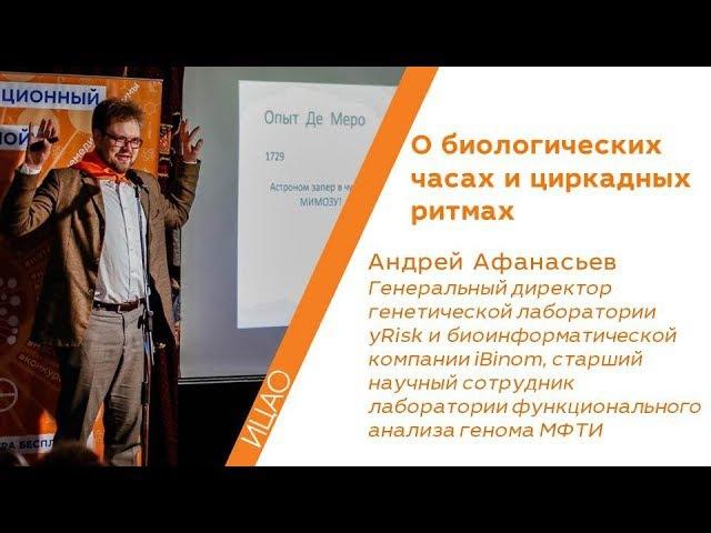 О биологических часах и циркадных ритмах Андрей Афанасьев РНА