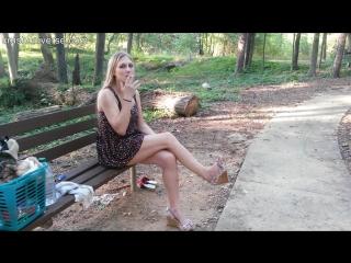 Smoking spitting girl