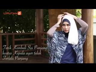 Zaskia mecca tutorial jilbab pashmina simple buat ke pesta