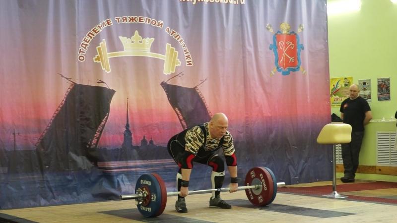 Чемпионат СПб Рашид Ицаев толчок 3 подх