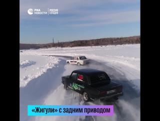 Дрифт-баттл на Жигулях в Иркутске