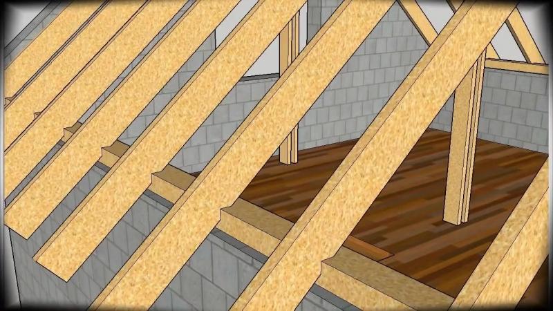 Поэтапный процесс строительства двускатной крыши