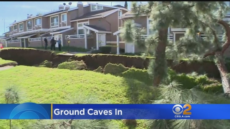 Giant Sinkhole Opens Up, Forces Evacuations At La Habra Condo Complex
