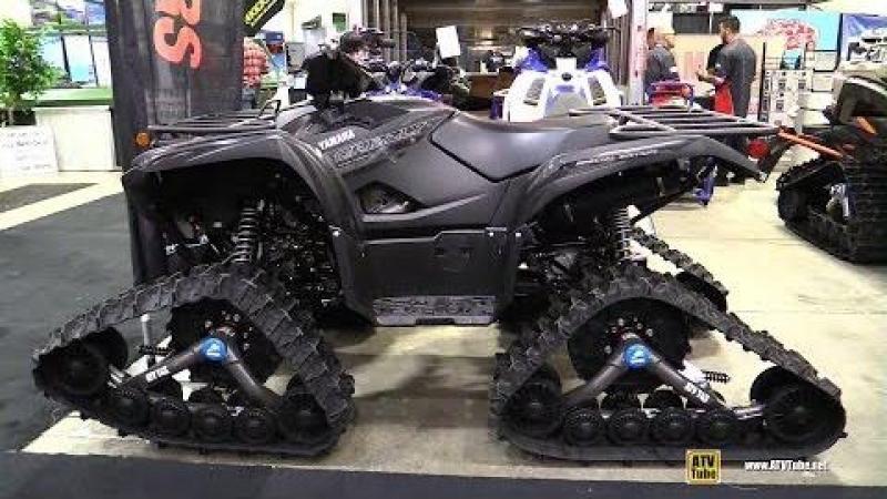 2018 Yamaha Grizzly 700 SE with Camso ATV T4S Trail Kit Walkaround 2017 Toronto ATV Show
