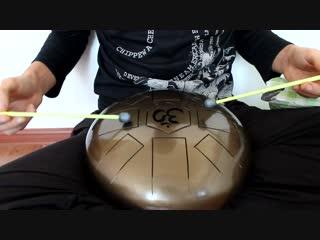 Глюкофон (псилофон) в настройке до мажор 432 гц. Бюджетный ханг, расслабляющие и оздоровляющие вибрации. tank steel drum