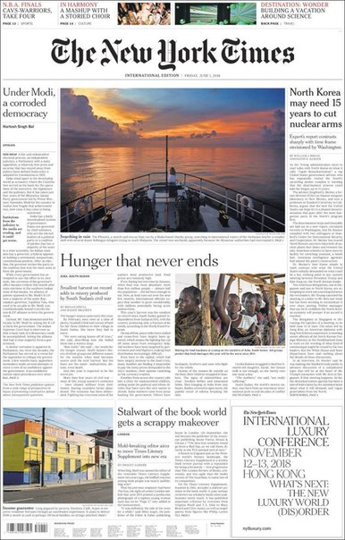2018-06-01 The New York Times International Edition