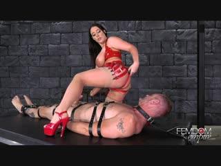 Angela White - Cock Cum Guzzler [Femdom, Handjob, Milking, Bondage, Pussy Licking, Strapon, 1080p]