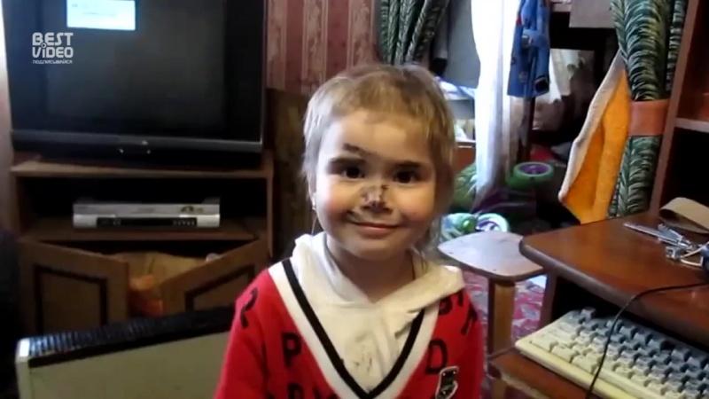 Маленькая девочка сама постриглась  папа в шоке!